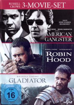 American Gangster / Robin Hood / Gladiator [3 DVDs, 3 Movie Set]