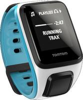 TomTom Runner 2 Cardio + Music (bracelet fin) blanc & bleu