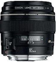 Canon EF 85 mm F1.8 USM 58 mm filter (geschikt voor Canon EF) zwart