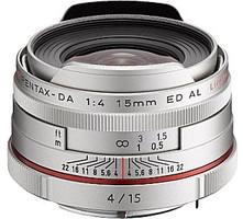 Pentax HD DA 15 mm F4.0 AL ED 49 mm Objectif (adapté à Pentax K) argent [Édition limitée]