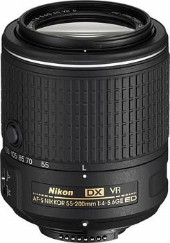 Nikon AF-S DX NIKKOR 55-200 mm F4.0-5.6 ED G VR II 52 mm filter (geschikt voor Nikon F) zwart