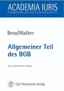Allgemeiner Teil des BGB - Hans Brox