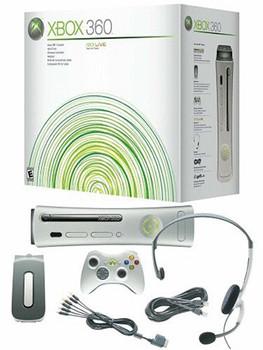 Microsoft Xbox 360 [incluye Disco duro de 20GB y mando inalámbrico] blanco