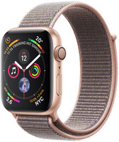 Apple Watch Serie 4 44 mm alloggiamento in alluminio oro con Loop sportivo rosa sabbia [Wi-Fi]