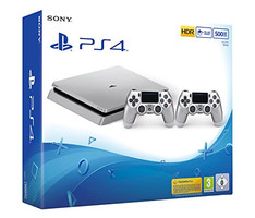 Sony PlayStation 4 500 Go [incl. 2 Wireless Controller] argent