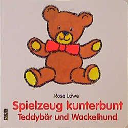 Spielzeug kunterbunt Teddybär und Wackelhund - Rosa Löwe