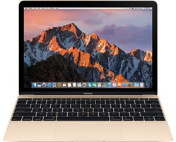 Apple MacBook 12 (Retina Display) 1.2 GHz Intel Core M3 8 Go RAM 256 Go PCIe SSD [Milieu 2017, clavier anglais, QWERTY] or
