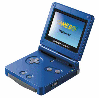 Game Boy Advance SP blu