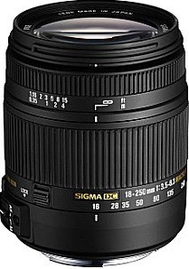 Sigma 18-250 mm F3.5-6.3 DC HSM OS Macro 62 mm Obiettivo (compatible con Canon EF) nero