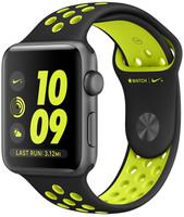 Apple Watch Nike+ Series 2 42 mm - Boîtier gris sidéral et bracelet sport Nike noir volt [Wi-Fi]