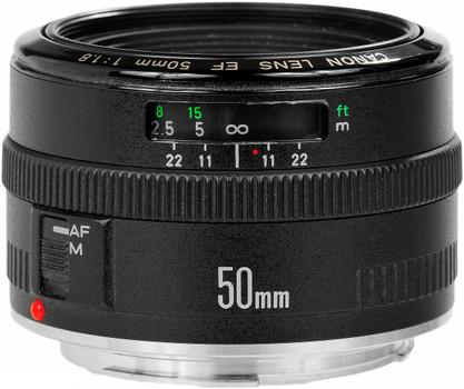 Canon EF 50 mm F1.8 52 mm Objectif (adapté à Canon EF) noir