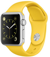 Apple Watch Sport 38 mm grise bracelet jaune [Wi-Fi]