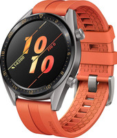 Huawei Watch GT 46,5 mm titane gris et bracelet en silicone orange [Active Edition]