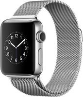 Apple Watch Series 2 38mm cassa in acciaio inossidabile argento con Loop in maglia milanese argento [Wifi]
