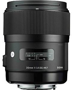 Sigma A 35 mm F1.4 DG HSM 67 mm filter (geschikt voor Nikon F) zwart