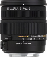 Sigma 17-70 mm F2.8-4.0 DC HSM OS Macro 72 mm filter (geschikt voor Pentax K) zwart