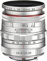 Pentax HD DA 20-40 mm F2.8-4.0 DC ED WR 55 mm filter (geschikt voor Pentax K) zilver [Beperkte editie]