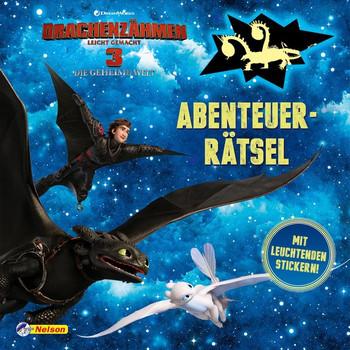 DreamWorks Dragons: Drachenzähmen leicht gemacht 3: Abenteuerrätsel. Mit leuchtenden Stickern! [Taschenbuch]