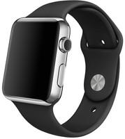 Apple Watch 42 mm zilver met sportbandje zwart [wifi]