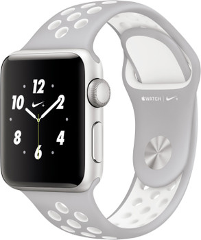 Apple Watch Nike+ Series 2 38 mm zilver aluminium met Nike sportarmband mat zilverwit [wifi]