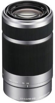 Sony E  55-210 mm F4.5-6.3 49  mm Objectif (adapté à Sony E-mount) argent
