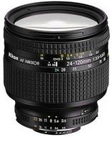 Nikon AF NIKKOR 24-120 mm F3.5-5.6 D 72 mm Objetivo (Montura Nikon F) negro