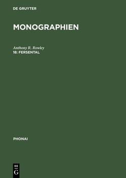 Monographien / Fersental. (Val Fèrsina bei Trient/Oberitalien). Untersuchung einer Sprachinselmundart [Gebundene Ausgabe]