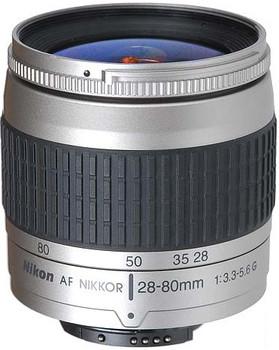 Nikon AF NIKKOR 28-80 mm F3.3-5.6 G 58 mm Obiettivo (compatible con Nikon F) argento