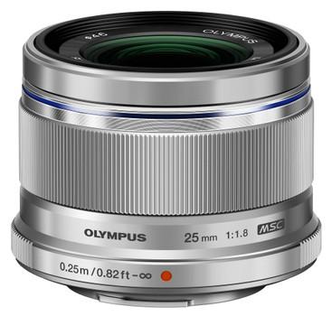 Olympus 25 mm F1.8 46 mm Objectif (adapté à Micro Four Thirds) argent
