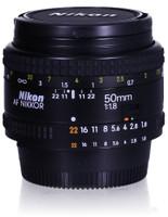 Nikon AF NIKKOR 50 mm F1.8 52 mm filter (geschikt voor Nikon F) zwart