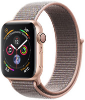 Apple Watch Serie 4 40 mm alloggiamento in alluminio oro con Loop sportivo rosa sabbia [Wi-Fi]