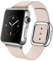 Apple Watch 38 mm en argent avec Bracelet Boucle Moderne  Medium gris rose [Wi-Fi]