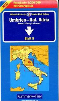 Kümmerly & Frey Karten, Umbrien, Italienische Adria: Umbria - Adriatic Sheet 8 (1236) - Kummerly