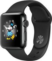Apple Watch Series 2 38mm cassa in acciaio inossidabile nero siderale con cinturino Sport nero [Wifi]