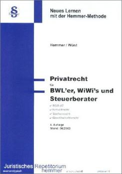 Privatrecht für BWL'er, WiWis und Steuerberater - Hemmer