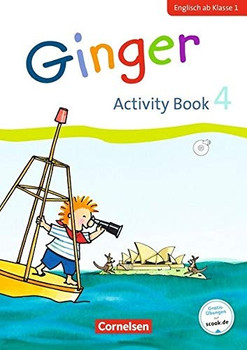 Ginger - Early Start Edition - Neubearbeitung / 4. Schuljahr - Activity Book mit Audio-CD, Minibildkarten und Faltbox - Ina Grandt [Taschenbuch]