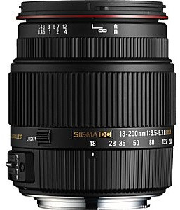 Sigma 18-200 mm F3.5-6.3 DC HSM OS II 62 mm Obiettivo (compatible con Pentax K) nero