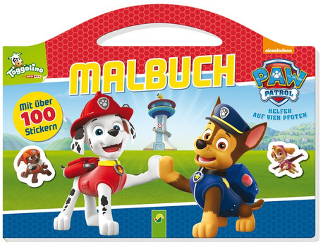 PAW Patrol Malbuch. Mit über 100 Stickern [Taschenbuch]