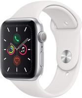 Apple Watch Series 5 44 mm Aluminiumgehäuse silber am Sportarmband weiß [Wi-Fi]