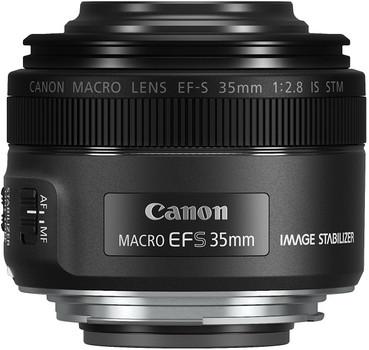 Canon EF-S 35 mm F2.8 IS STM Macro 49 mm Objectif (adapté à Canon EF-S) noir