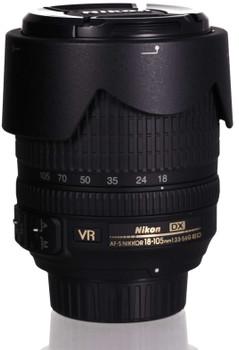 Nikon AF-S DX NIKKOR 18-105mm F3.5-5.6 ED G VR 67 mm Objetivo (Montura Nikon F) negro