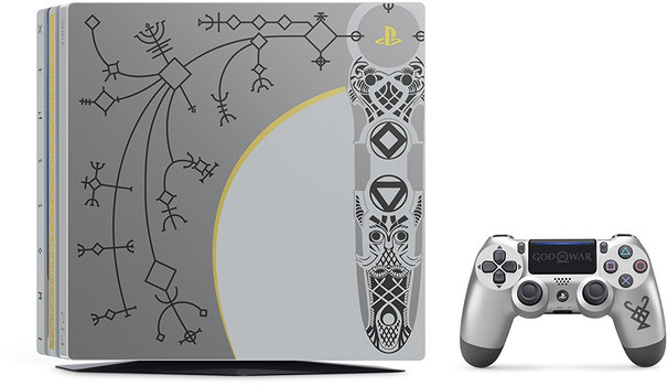 Sony PlayStation 4 pro 1 TB [God of War Limited Edition incl. draadloze controller, zonder spel] zilver