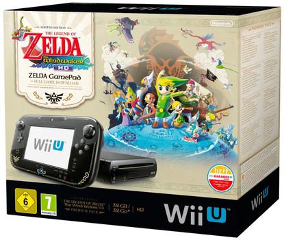 Nintendo Wii U zwart 32GB [Legend of Zelda Design zonder spel]
