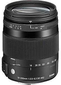 Sigma 18-200 mm F3.5-6.3 DC Macro OS HSM Contemporary 62 mm Obiettivo (compatibile con Canon EF) nero
