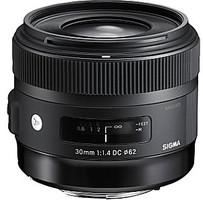 Sigma A 30 mm F1.4 DC HSM 62 mm Objectif (adapté à Canon EF) noir