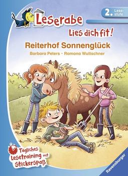 Reiterhof Sonnenglück. Tägliches Lesetraining mit Stickerspaß - Barbara Peters  [Gebundene Ausgabe]