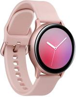 Samsung Galaxy Watch Active2 44 mm Cassa in alluminio nero con cinturino Sport nero [Wi-Fi]