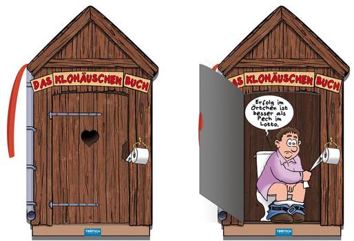 Das Klohäuschenbuch. Klobuch, Klohäuschenbuch, lustiges Buch, Cartoons, Witzbuch, Geschenkbuch, Klohäuschen [Gebundene Ausgabe]