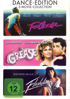 Footloose / Grease / Flashdance [3 DVDs, Dance-Edition]