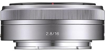 Sony E 16 mm F2.8 49 mm Objetivo (Montura Sony E-mount) plata